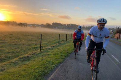 Rennradfahren für den Frieden